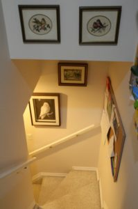 Stairs Hold Dorothy's Work