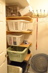Laundry Sorting Shelves