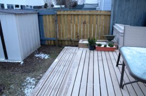 Deck Step and Planter, New Fence